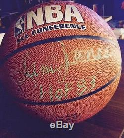 Celtics Rare Signe Boston Sam Jones Basket Hof Avec Vitrine W Coa
