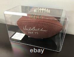 Chicago Bears Dick Butkus Signé Football En Vitrine Cas Avec Coa+photo