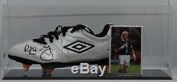 Colin Hendry, Vitrine De Chaussures De Football Autographiée Et Autographe Écossaise Aftal Coa