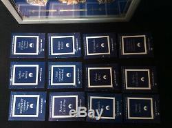 Collection Star Trek Insignia (12 Pcs) Avec Présentoir Coa