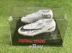 Cristiano Ronaldo Chaussures De Football Signées Juventus Madrid Portugal Coa