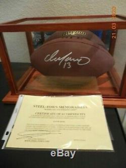 Dan Marino Autographed Wilson NFL Football Avec Affichage Cas Et L'aco