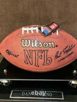 Dan Marino Hof Autograph Wilson Football Beckett Coa Withdisplay Case