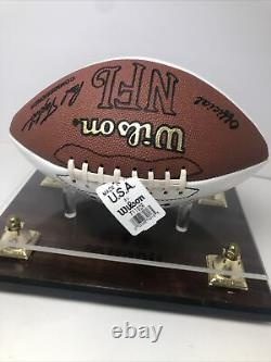 Dan Marino Signé Pro NFL Wilson Football Hof Dolphins Display Case & Coa