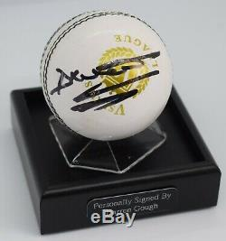 Darren Gough Signé Cricket Autograph Ball Présentoir Angleterre Aftal Coa