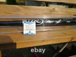 Darryl Strawberry And Doc Gooden Signed Bat And Display Case Beckett Coa 86 Mets