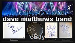 Dave Matthews Band Art Sketches Vitrine Personnalisée Aftal Uacc Rd Coa Psa