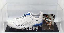 David Hay Signé Autograph Football Boot Display Case Celtic Football Aftal Coa