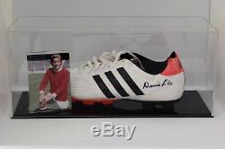 Denis Law Signé Autograph Football Boot Display Case Manchester United Coa