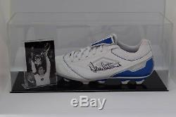 Dennis Mortimer Signé Autograph Football Boot Display Case Aston Villa Coa