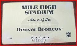 Denver Broncos Mile High Stadium Danbury NFL Replica With Coa - Display Case Denver Broncos Mile High Stadium Danbury NFL Replica With Coa - Display Case Denver Broncos