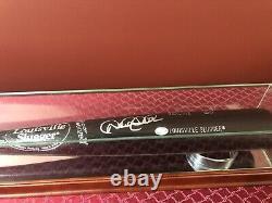 Derek Jeter Hand Autographié Louisville Slugger Baseball Bat Display Case- Coa