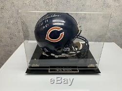 Dick Butkus NFL Hof Autographié Casque De Football Bgs Cert Nom Présentoir Coa