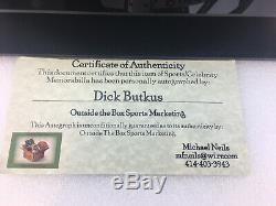 Dick Butkus Signé Bears Full Size Casque Coa Withdisplay Case Et Carte Signée