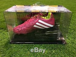 Diego Costa Signé Chaussure De Football Chelsea Athletico Madrid Espagne Présentoir Coa