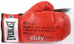 Earnie Shavers Signé Gants De Boxe Autographiés Avec Boîtier D'affichage Personnalisé Ali Coa