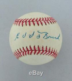 Edd Roush A Signé Baseball Carte Bcw Topps Vitrine Coa Giants Reds Sox Hof