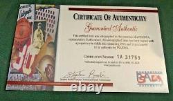 Eddie Mathews Autographié Psa Assermentée Baseball Withcard & Display Cas Coa