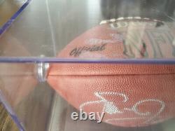 Emmit Smith Autographié NFL Wilson Football-display Case & Coa-dallas Cowboys