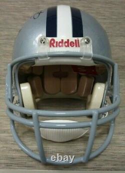 Emmitt Smith Signé Dallas Cowboys Full Size Helmet 3 Coa's Verified Displaycase