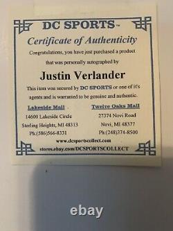 Encadré Justin Verlander Autographié Image De Hitter Sur No 12/06/07 Avec Coa