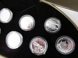Ensemble De 12 Pièces Canada Silver Millennium 1999 Avec Boîtier D'affichage Et Aco