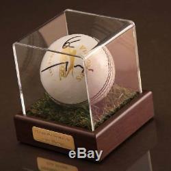 Eoin Morgan Vitrine D'autographes Signée Cricket Ball - Angleterre Souvenirs Coa
