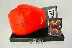 Evander Holyfield Présentoir À Gant De Boxe Autographe Signé Sport Proof & Coa