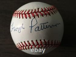 Floyd Patterson Autograph Signé Baseball Boxing Champion Display Case Coa