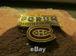Forum De Montréal Original Brique Signé Par Guy Lafleur # 10 Affichage De Cas Inc Coa