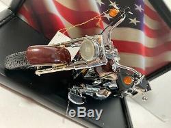 Franklin Mint 1990 Harley Davidson Fat Boy Fatboy Motorcycle Coa Vitrine