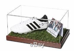 Franz Beckenbauer Vitrine De Chaussure De Football Autographiée D'allemagne + Coa