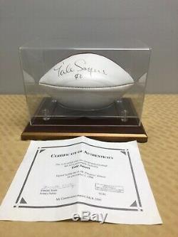 Gale Sayers Signé Autographed Football En Cas D'affichage Avec Coa Bears NFL Hof