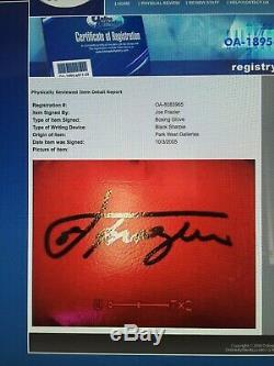 Gant De Boxe Autographié Par Joe Frazier Avec Vitrine Coa Onlineauthentics