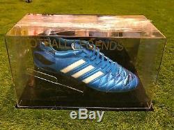Gareth Bale Signé Football Boot Real Madrid Pays De Galles Dans Un Cas D'affichage Coa