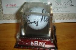 Gary Player Dédicacé Balle De Golf Coa En Cas D'affichage Monnaie
