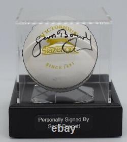 Geoff Boycott Signé Cricket Autograph Ball Présentoir Angleterre Aftal & Coa