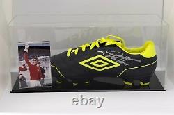 Geoff Hurst Signed Autograph Football Boot Display Case Angleterre'66 Coa