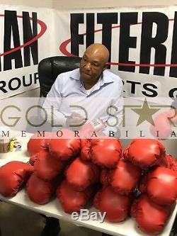George Foreman Signé Gant De Boxe Champion Du Monde Présentoir Proof Rare Coa