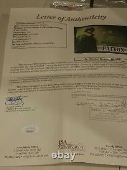 George S Patton Authentic Written Word Cut Acrylic Display Case Jsa Coa