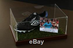 Georgi Kinkladze Signé Football Boot Afficher La Ville Case Man Autograph Coa