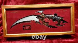 Gil Hibben Gh2026 Oeil De Drakonus Or-0373/2000-bois Vitrine & Coa-ln