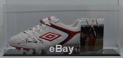 Graeme Souness Signé Autograph Football Boot Display Case Liverpool Aftal Coa