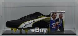 Graeme Souness Signé Autograph Football Boot Display Case Rangers Aftal Coa