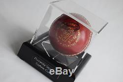 Graham Gooch Présentoir Pour Balle De Cricket Autographe Signé Sport Angleterre Aftal Coa