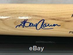 Hank Aaron Autographed Adirondack Modèle Jeu Personal Bat Withdisplay Case & Coa