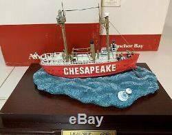 Harbor Lights 1997 Anchor Bay # 116 Chesapeake Avec Affichage De Cas Nib Coa