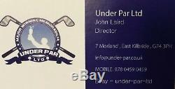 Ian Poulter Signé Tasse Ryder £ 5 Billets D'affichage / Golf / Coa Gleneagles