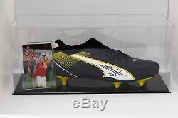 Jaap Stam Signé Autograph Football Boot Display Case Manchester United Coa