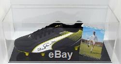 Jack Charlton Signé Autograph Football Boot Display Case Leeds Utd Aftal Coa